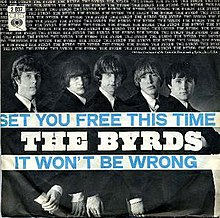 "1966 Dutch picture sleeve of ""Set You Free This Time/It Won't Be Wrong"""