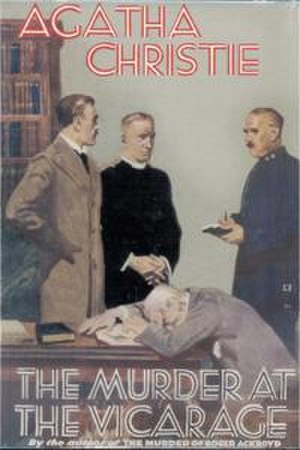 The Murder at the Vicarage - Dust-jacket illustration of the first UK edition