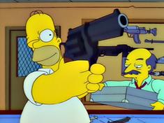 simpsons homer buys a gun