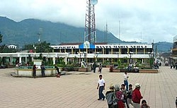The central plaza of Nebaj, 2006-11-12, at 8:39 am