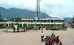 Santa Maria Nebaj - The central plaza of Nebaj, 2006-11-12, at 8:39 am
