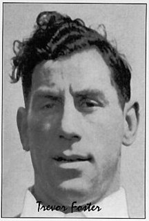 Trevor Foster Welsh rugby union and rugby league footballer