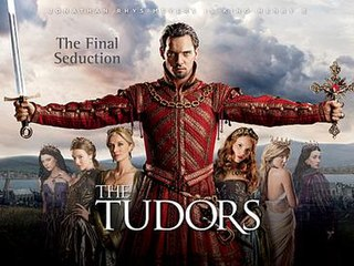 <i>The Tudors</i> historical fiction television series