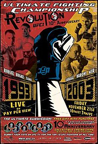 A poster or logo for UFC 45: Revolution.