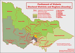 Electorates of the Australian states and territories - Electoral districts of Victoria