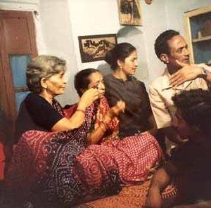 Vijaya Mulay - Vijaya Mulay on location with the Indian musician Gangubai Hangal