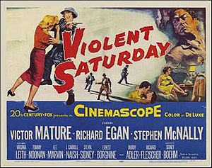 Violent Saturday - Theatrical lobby card