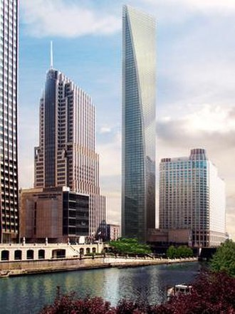 Waldorf-Astoria Hotel and Residence Tower - Rendering of the proposed building, standing adjacent to the existing NBC Tower