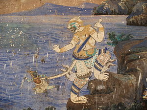 Silver Pagoda, Phnom Penh - Image: Wat mural
