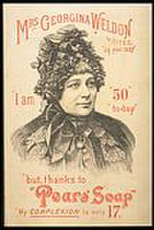 Georgina Weldon - Mrs Weldon in an advertisement for Pears Soap