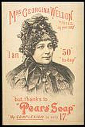 Georgina Weldon - Mrs Weldon in an advertisement for Pears Soap