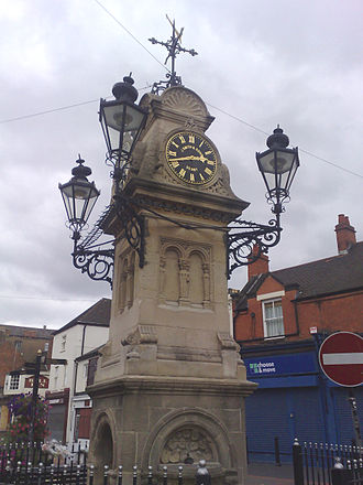 Willenhall - The Clocktower in Market Place, Willenhall 2007