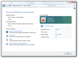 Security and safety features new to Windows Vista - Parental controls in Windows Vista