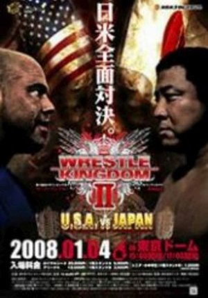Wrestle Kingdom II - Promotional poster for the event, featuring Kurt Angle and Yuji Nagata