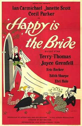 Happy Is the Bride - British theatrical poster