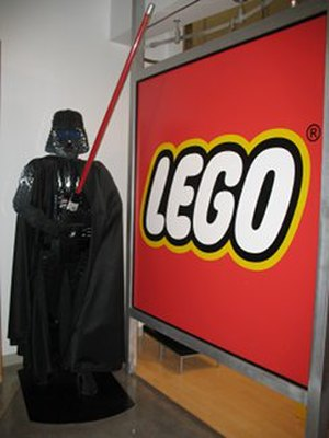 Magnificent Mile - The Lego Store is a highlight of Water Tower Place. It frequently exhibits lifesize or larger than life characters at the main entrance of the mall.