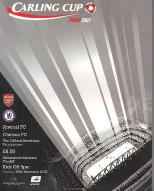 2007 Football League Cup Final - The match programme cover