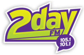 CJED-FM - Logo while simulcasting on 105.1