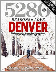 Cover of 5280's December 2012 issue