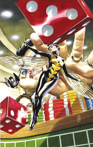 Wasp (comics) - Janet van Dyne as Wasp. Art by J. G. Jones.
