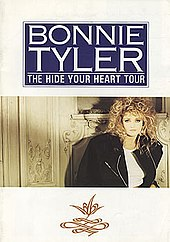 A cover of a book that was sold at concerts during Bonnie Tyler's Hide Your Heart Tour. The book contains all details about the tour.jpg