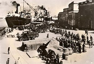 Albanian Kingdom (1939–43) - Invading Italian troops