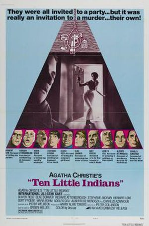 And Then There Were None (1974 film) - A film poster bearing the film's alternative title: Ten Little Indians