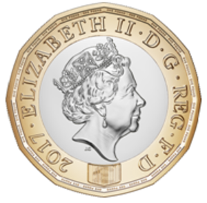 One pound (British coin) - Image: British 12 sided pound coin