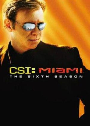 CSI: Miami (season 6) - Season 6 U.S. DVD cover