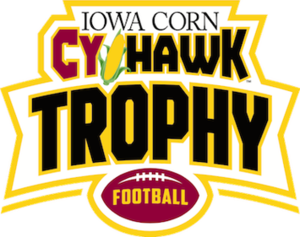 Iowa–Iowa State football rivalry - Image: CY Hawk rivalry logo