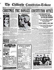 Chillicothe Constitution-Tribune front cover, December 12, 1930