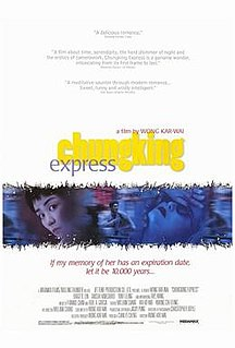 <i>Chungking Express</i> 1994 Hong Kong film directed by Wong Kar-Wai
