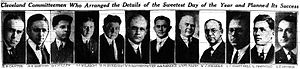 Sweetest Day - The 12 Cleveland committeemen who planned Cleveland's Sweetest Day, as published in The Cleveland Plain Dealer on October 8, 1922.