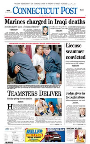 Connecticut Post - Image: Connecticut Post front page