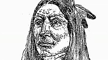 1934 sketch of Crazy Horse's face as described by his sister