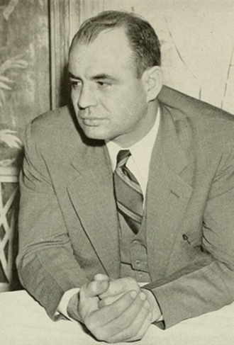 Denny Myers - Myers pictured in Sub Turri 1942, Boston College yearbook