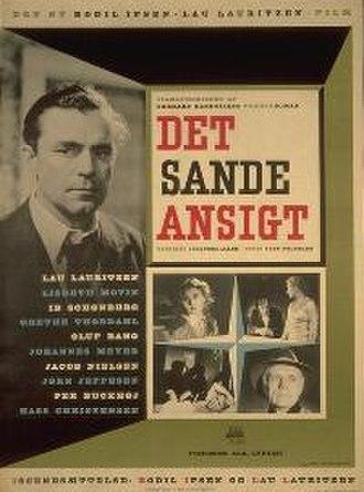 Det Sande Ansigt - 1951 Movie Poster by Jerrild