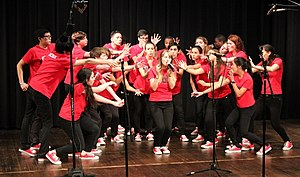 Masters School - Dobbs 16 competes at the National Championship of High School A Cappella in Allendale, New Jersey