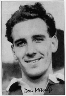 Donald Metcalfe English rugby union & league footballer and RL coach