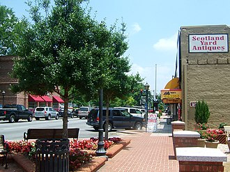Lawrenceville, Georgia - Downtown Lawrenceville (as of June 2006)