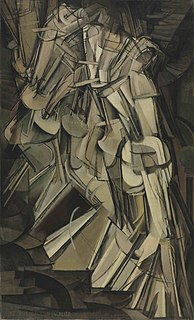 <i>Nude Descending a Staircase, No. 2</i> Painting by Marcel Duchamp