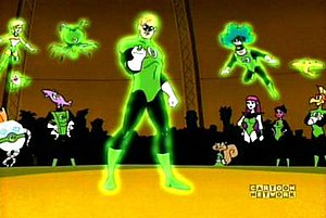 Green Lantern Corps - The Green Lantern Corps in Duck Dodgers.