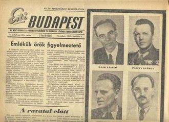 Eastern Bloc - Esti Budapest, 6 October