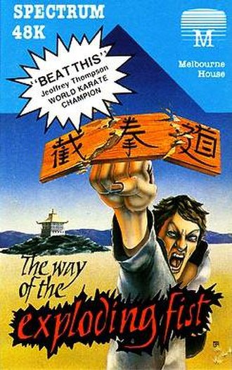 The Way of the Exploding Fist - ZX Spectrum Cover art