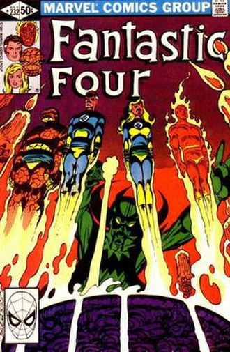 John Byrne (comics) - Image: Fantastic Four 232 (cover art)