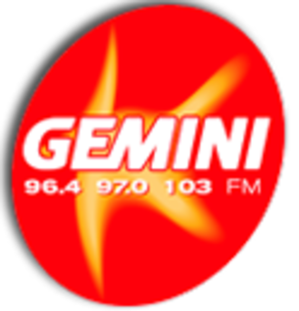 Heart Exeter and Heart Torbay - Image: Gemini FM logo