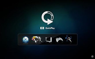 QuickPlay - User interface of HP Quickplay for Windows Vista