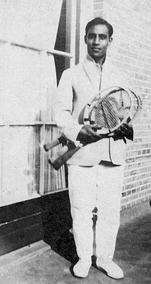 Syed Mohammad Hadi - S.M. Hadi as Davis Cup player (circa 1925).
