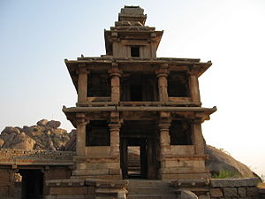 Chitradurga Fort - Entrance to Hidimbeswara Temple. Hidimba and Hidimbi are stated to have lived here