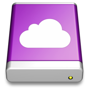 IDisk - The iDisk icon as it appeared in Mac OS X from v.10.5.4 to v.10.5.7.